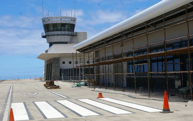 Aircraft lands at St Helena Airport prior to audit