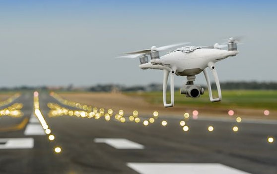 Airport surveillance with drones for improved airport safety