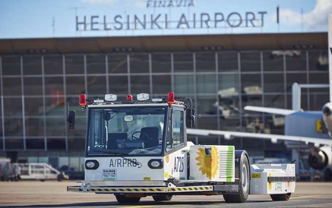 Airpro brings electric pushback tractors to Helsinki Airport