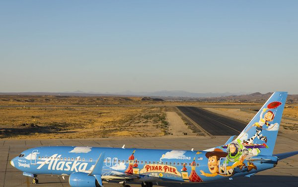 Alaska Airlines' newest painted Pixar-themed aircraft