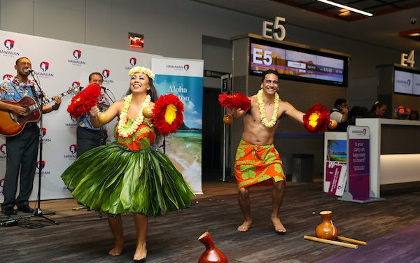 Aloha came to Boston with Hawaiian Airlines