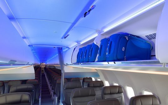 American Airlines A321neo service with new cabin