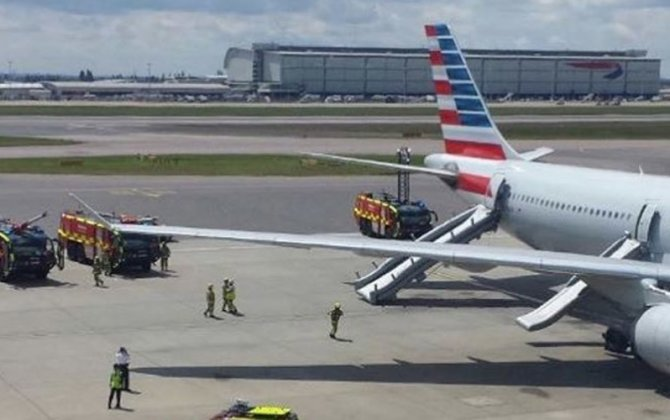 American Airlines flight evacuated at London Heathrow Airport