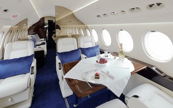 An upgrade of cabin appearance to a Dassault 7X - RAS Group & JetMS