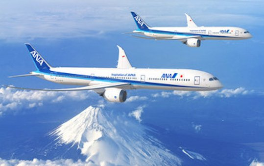 ANA expands fleet placing an order for 20 New Boeing 787s