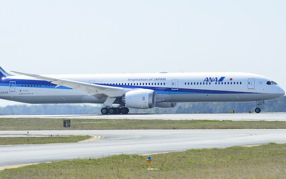 ANA Takes Delivery of its First Boeing 787-10 Dreamliner