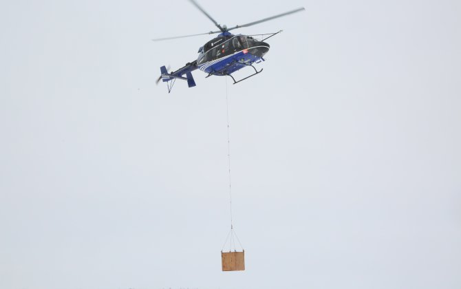 Ansat Helicopter can lift up to 1,000 Kg on an External Sling