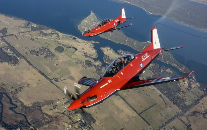 Australia's Chief of Air Force Completes First Flight in the AIR 5428 PC-21