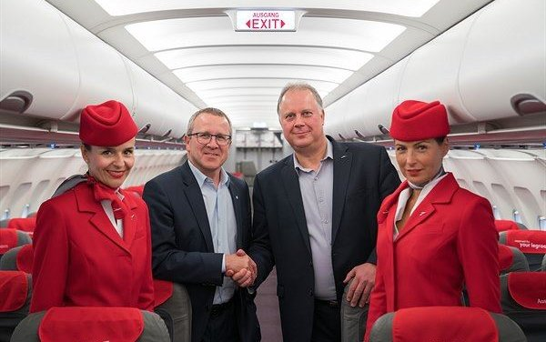 Austrian Airlines A320 aircraft cabin upgrade performed by FACC