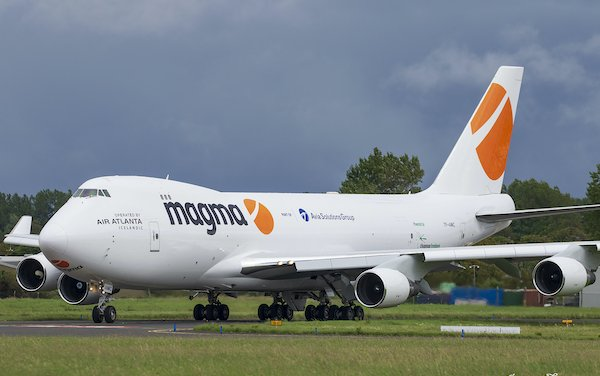 AviaAM Leasing racquired Boeing 747-400F nose-loader liveried and operational on behalf of Magma Aviation
