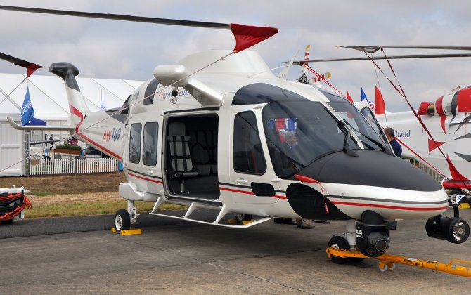 AW169 helicopter gets five firm orders in Brazil for executive transport