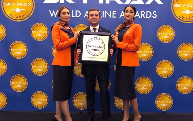 """Azerbaijan Airlines"" was once again awarded the prestigious Skytrax Award"