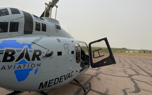 BAR Aviation accepts the first Bell 505 with Med-Pac EMS lite interior in Africa