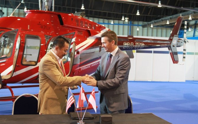 Bell Helicopter and Air Pacific Utama celebrate number of firsts at Rotorcraft Asia