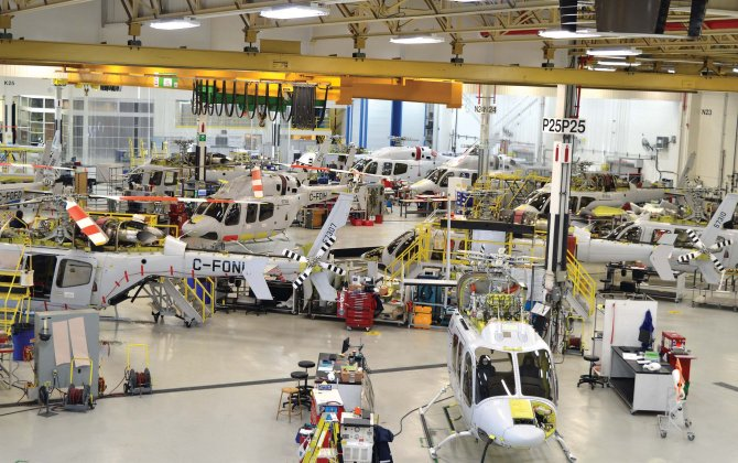 Bell Helicopter's Mirabel facility celebrates completion of 5,000th aircraft