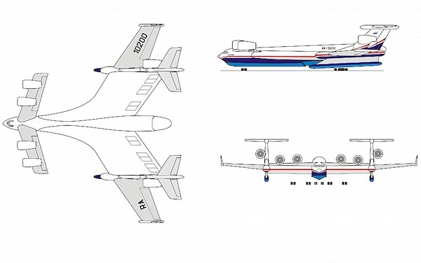 Beriev Aircraft Company is working on amphibious aircraft with over 1,000 tonnes takeoff weight