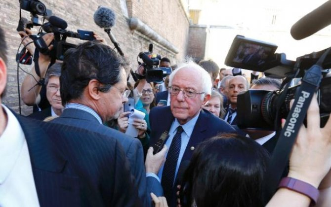 Bernie Sanders takes private jet for 24-hour trip to Vatican after attacking Hillary Clinton on climate change