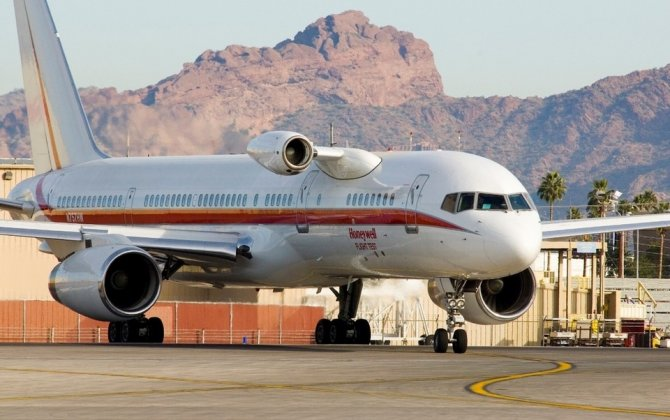Boeing 757 test-bed plane showcases Honeywell R&D capabilities in Dubai