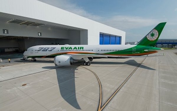 Boeing, Air Lease Corp., EVA Air Celebrate Airline's First 787-9 Dreamliner