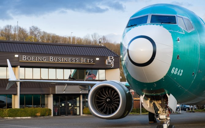 Boeing Business Jets Celebrates Flyaway of First BBJ MAX Airplane