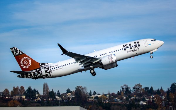 Boeing Delivers Fiji Airways' First 737 MAX Airplane
