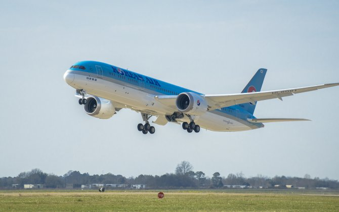 Boeing Delivers Korean Air's First 787-9 Dreamliner