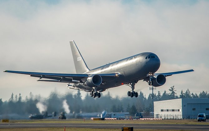 Boeing KC-46A Tanker for U.S. Air Force Completes First Flight