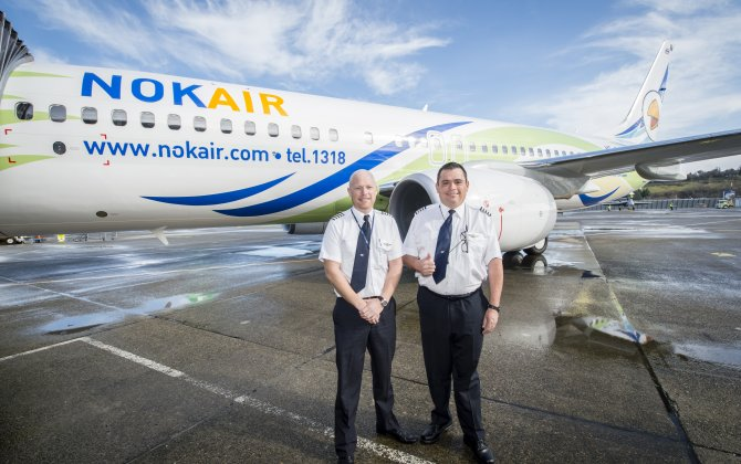 Boeing, Nok Air Celebrate 737 Delivery, Kick Off Flight Training Program