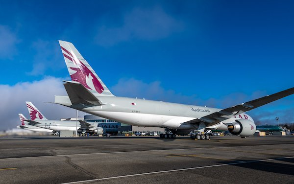 Boeing triple delivery of 777 Freighters to Qatar Airways Cargo