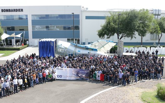Bombardier celebrates 15-years of its Querétaro site as it delivers the 100th Global 7500 aircraft rear fuselage