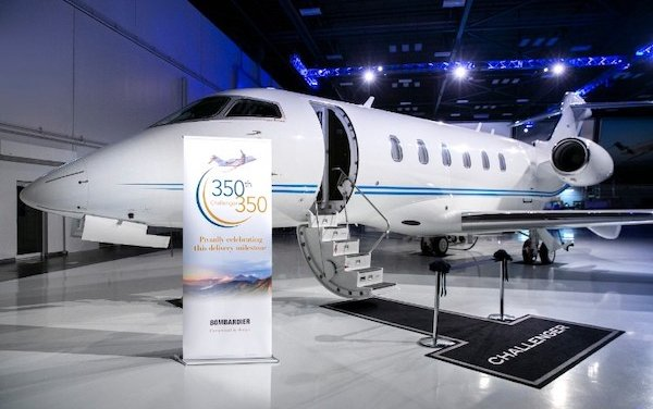Bombardier Challenger 350 reaches milestone 350th delivery