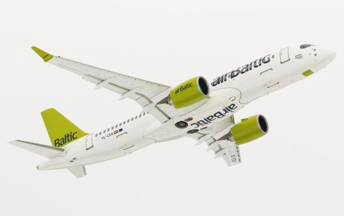Bombardier CS300 Aircraft Successfully Starts Revenue Service with airBaltic