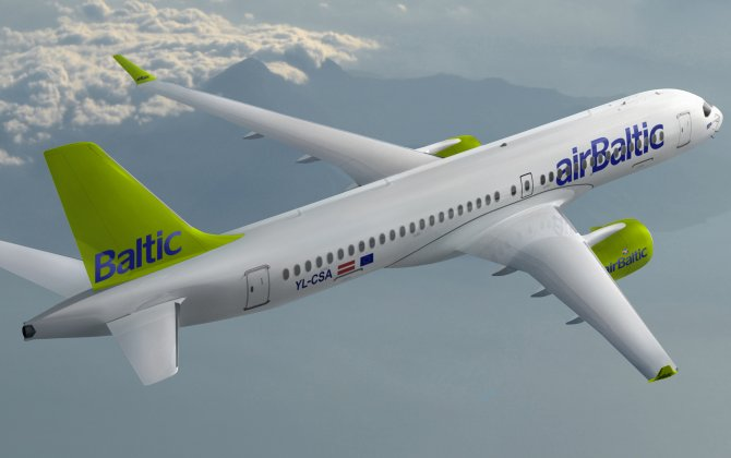 Bombardier Delivers First CS300 Aircraft to airBaltic
