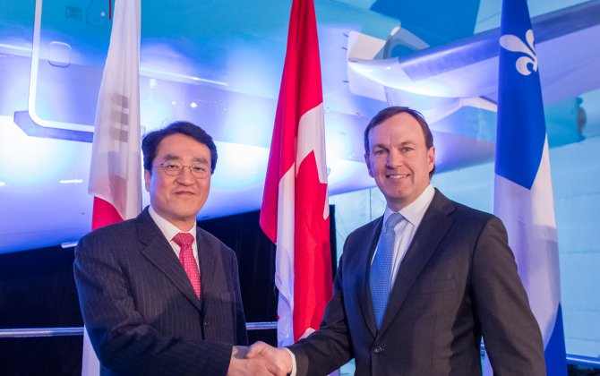 Bombardier Delivers Korean Air Line's First CS300 Airliner