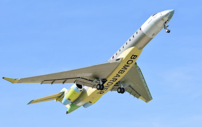 Bombardier Global 7000 Flight Test Program Ramps Up with Maiden Flight of Third Flight Test Vehicle