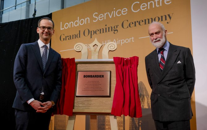 Bombardier Inaugurates New Service Centre at London Biggin Hill Airport