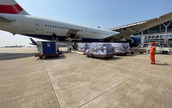British Airways flies vital medical supplies to Britain