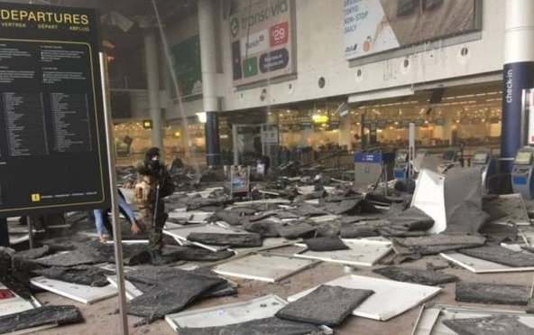 Brussels attacks: Police release airport terminal