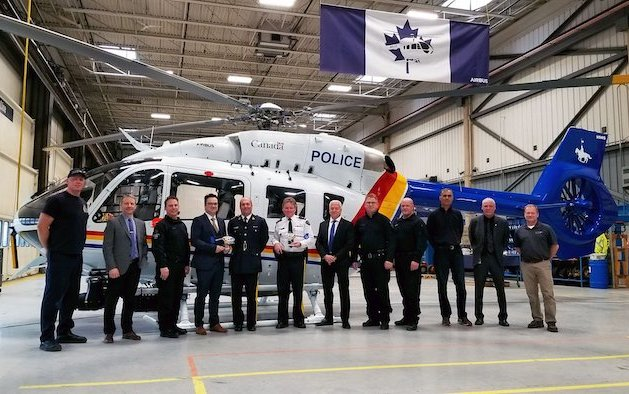 Canada's first H145 delivered to the Royal Canadian Mounted Police