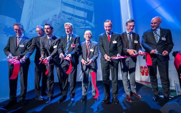 Celebration of the grand opening of new wide-body hangar in Basel by Jet Aviation