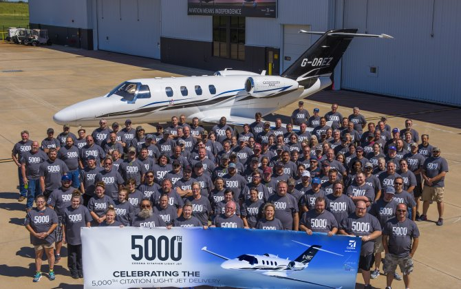 Cessna celebrates segment leadership with 5,000th Citation light jet delivery to Catreus