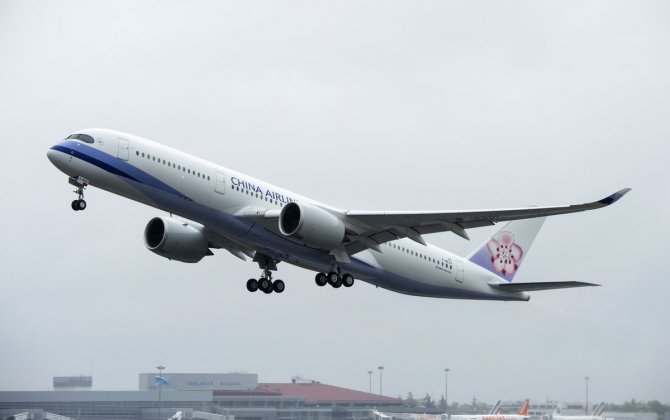 China Airlines' first A350 XWB takes to the skies