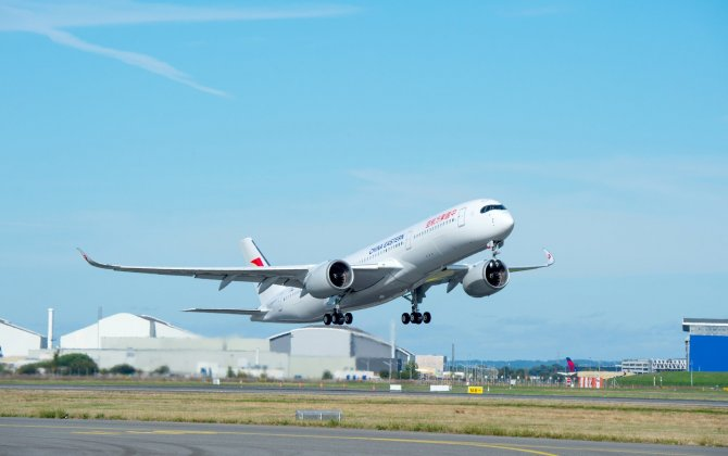 China Eastern Airlines' first A350 XWB performs maiden flight