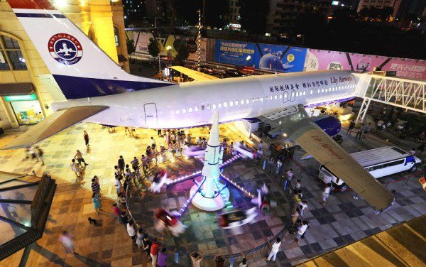 Chinese Businessman Turns Boeing 737 Airplane into a Restaurant