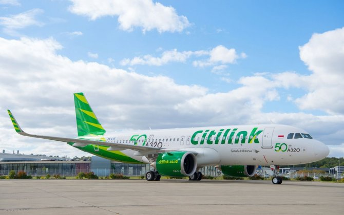 Citilink takes delivery of 50th A320 Family aircraft