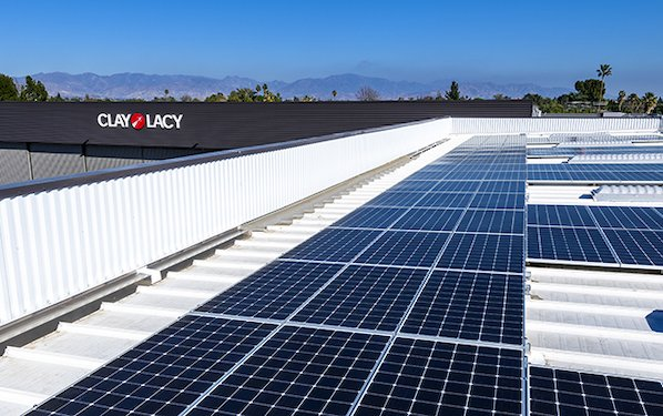 Clay Lacy moves toward Net-Zero Carbon Footprint with solar panels at Van Nuys Airport Headquarters