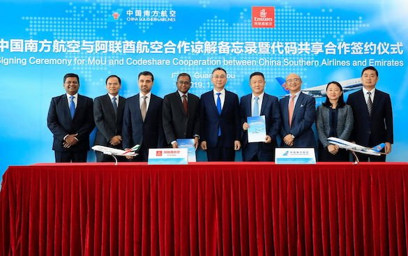 Codeshare Partnership between Emirates and China Southern Airlines
