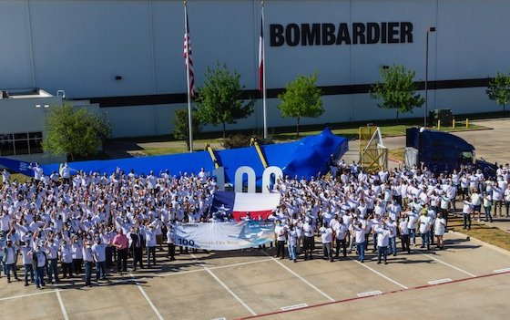 Completion of 100th Global 7500 business jet wing manufactured in Texas