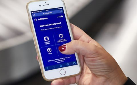 Contactless, mobile way to report and track delayed baggage - SITA & Lufthansa Group