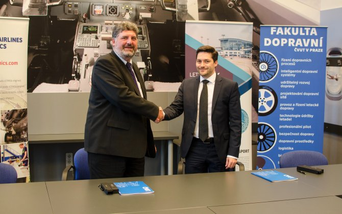 Czech Airlines Technics and Faculty of Transportation science of CTU cooperation